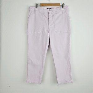 J Crew Jeans 32 Lavender Straight Leg Crop